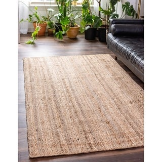 Unique Loom Dhaka Braided Jute Area Rug