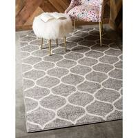 Unique Loom Rounded Trellis Frieze Area Rug - 8' x 10'