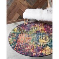 Unique Loom Nirvana Chromatic Round Rug - 6' x 6'