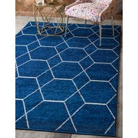 Unique Loom Geometric Trellis Frieze Area Rug - 9' x 12'