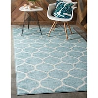Unique Loom Rounded Trellis Frieze Area Rug - 8' 0 x 10' 0
