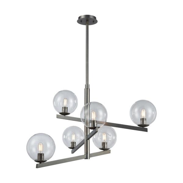 Globes Of Light 6-Light Chandelier, Brushed Black Nickel