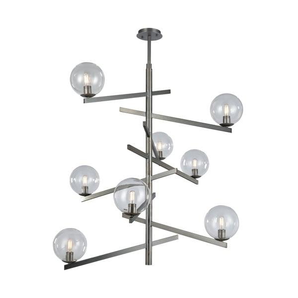 Globes Of Light 8-Light Chandelier, Brushed Black Nickel