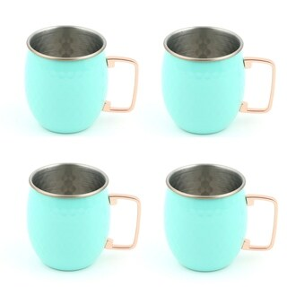 Fiesta Turquoise Moscow Mule Mugs, Set of 4