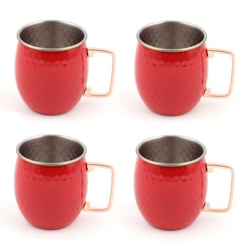 Fiesta Scarlet Moscow Mule Mugs, Set of 4