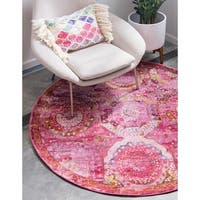 Unique Loom Coppelia Havana Round Rug - 8' 4 x 8' 4