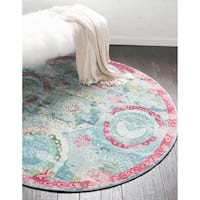 Unique Loom Coppelia Baracoa Round Rug - 8' 4 x 8' 4