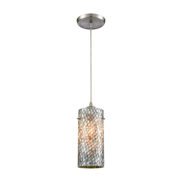 Capri 1-Light Pendant, Satin Nickel