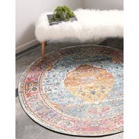 Unique Loom Coppelia Baracoa Round Rug - 5' 5 x 5' 5