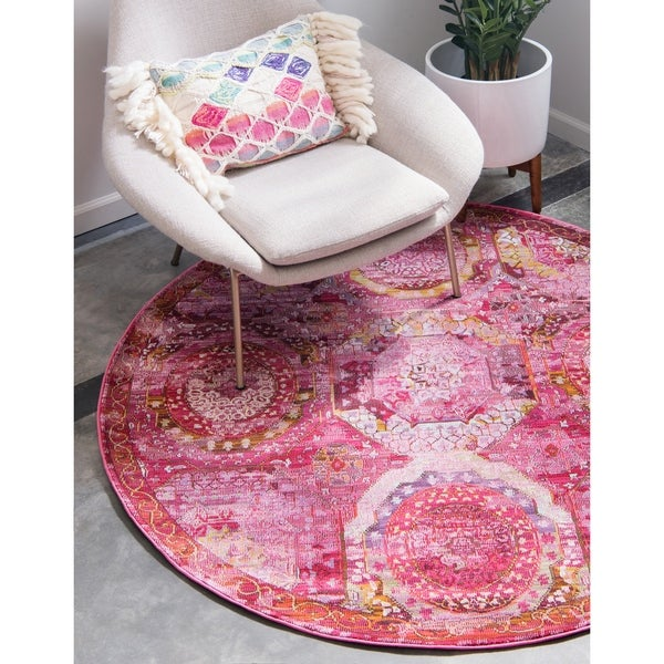 Unique Loom Coppelia Havana Round Rug - 5' 5 x 5' 5