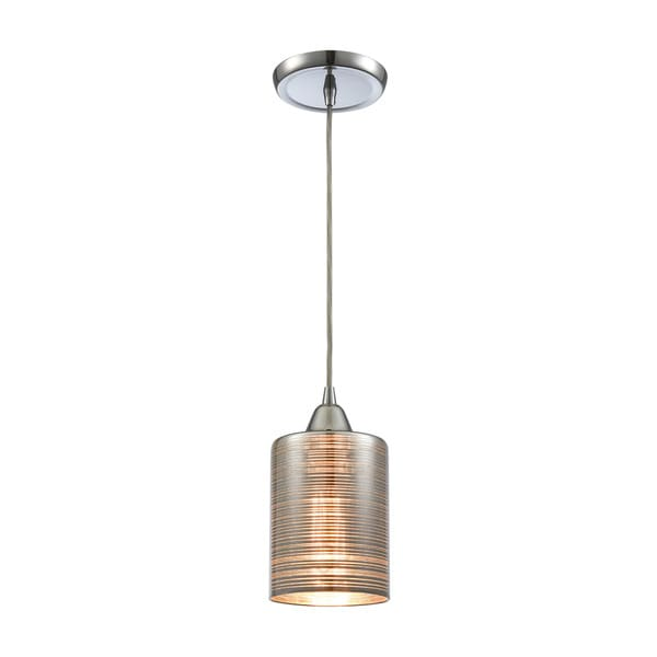 Plated Rings 1-Light Pendant, Polished Chrome