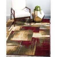 Unique Loom Timor Barista Area Rug - Multi - 4' X 6'