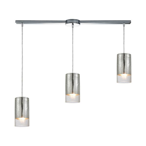 Tallula 3-Light Linear Bar Pendant, Polished Chrome