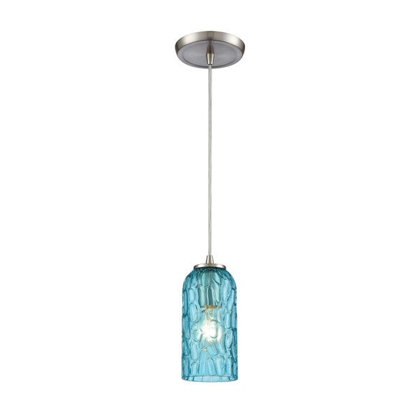 Ansegar 1-Light Pendant, Satin Nickel