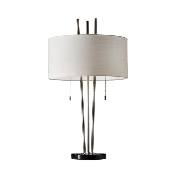 Adesso Anderson Table Lamp - Brushed Steel