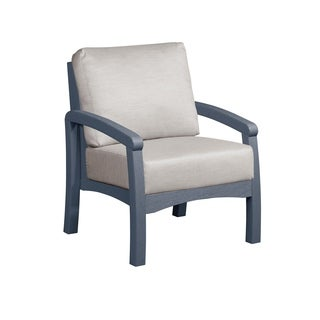 C.R. Plastics Bay Breeze Arm Chair w/ Cushion Grey Frame