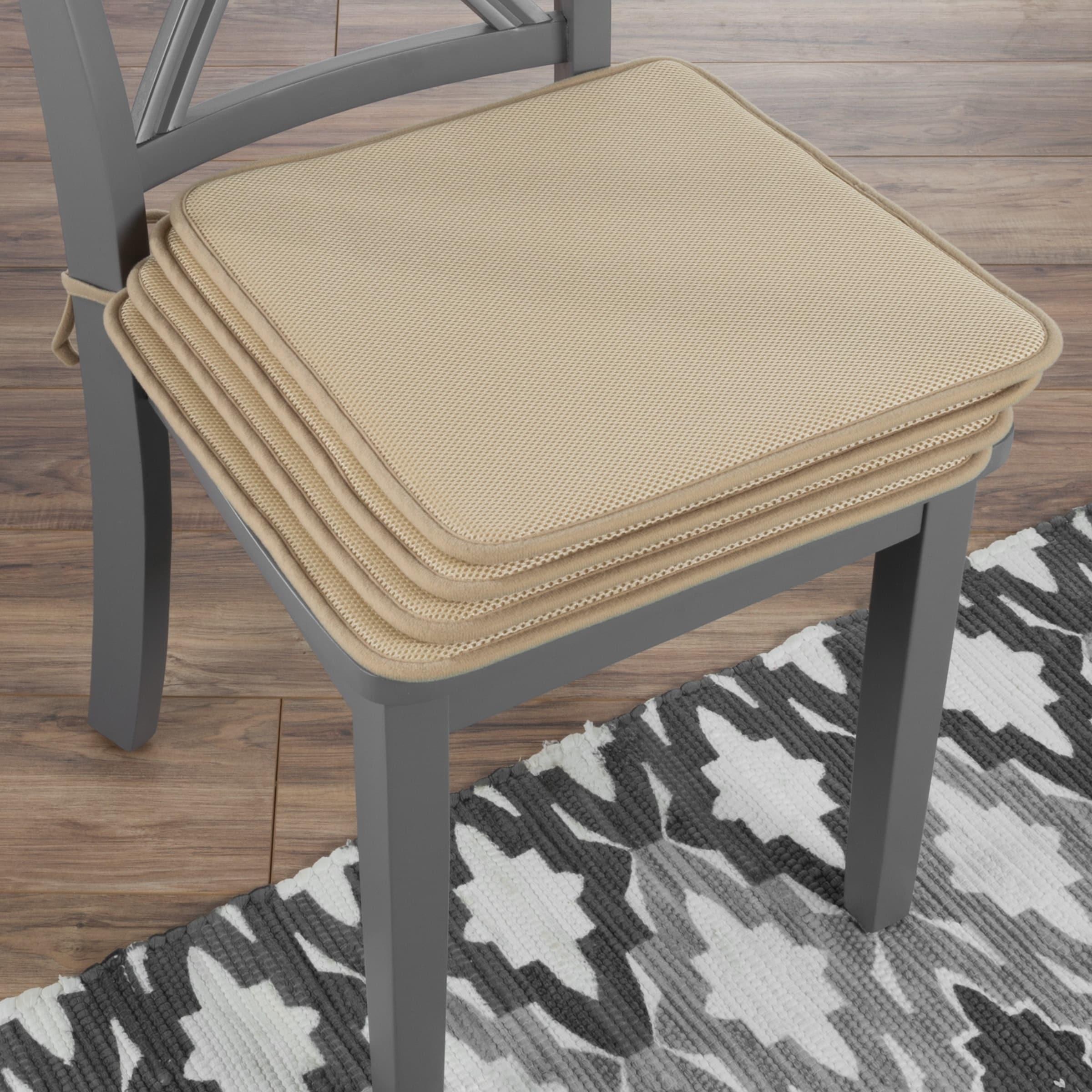 Chair Cushions-Set of 4 Square Foam 16\