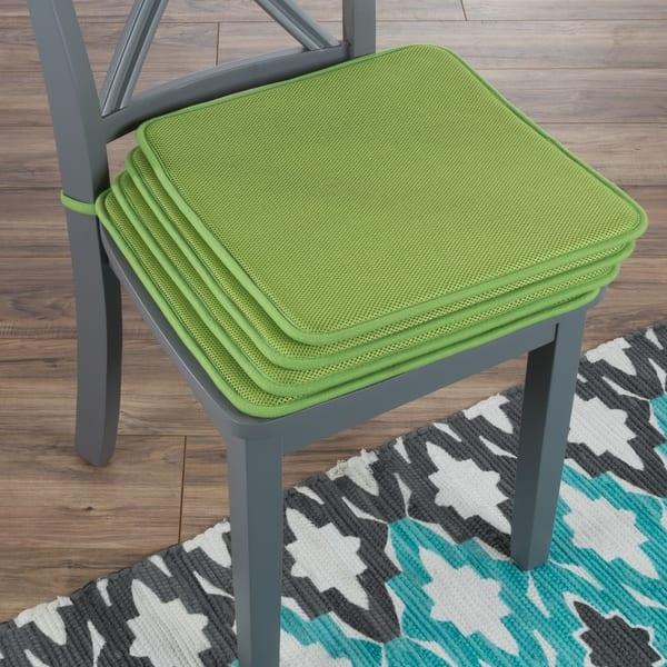 Shop Chair Cushions Set Of 4 Square Foam 16x 16 Pads