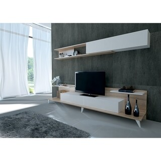 "Decorotika Bono 94"" TV Media Stand with Decorotive Wall Shelf"