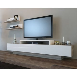 "Decorotika Lusi 71"" TV Media Stand with Wall Shelves"