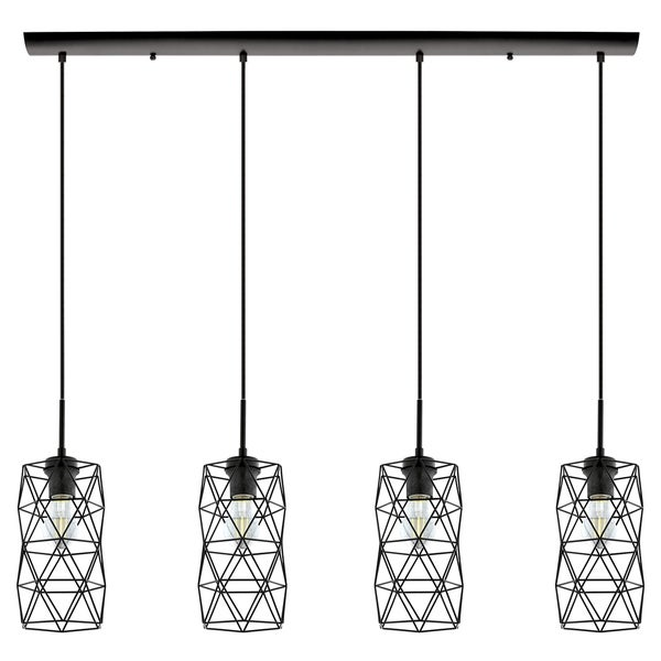 Eglo Estevau 2 Four-light Pendant with Matte black Finish