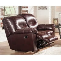 Signature Design by Ashley - Mahogany - Kilzer Reclining Loveseat - N/A