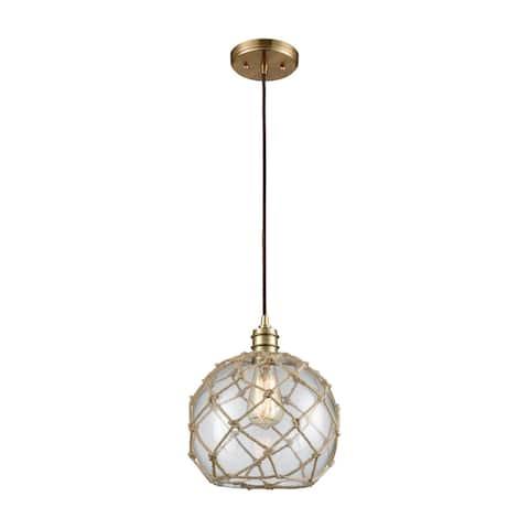 Dragnet 1-Light Pendant, Satin Brass