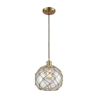Dragnet 1-Light Pendant, Satin Brass
