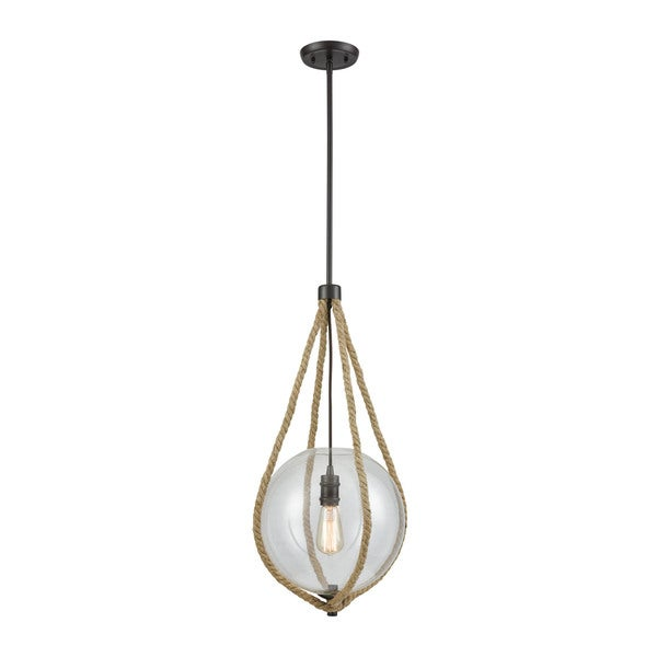 Dangling 1-Light Rope Pendant, Oil Rubbed Bronze