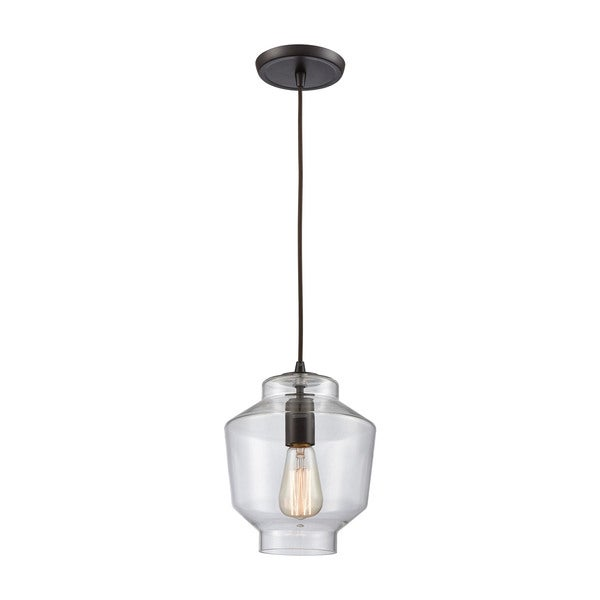 Barrel 1-Light Pendant, Oil Rubbed Bronze