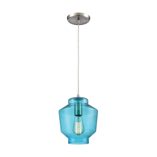 Barrel 1-Light Pendant, Satin Nickel