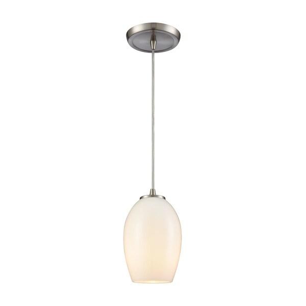 Villiska 1-Light Pendant, Satin Nickel
