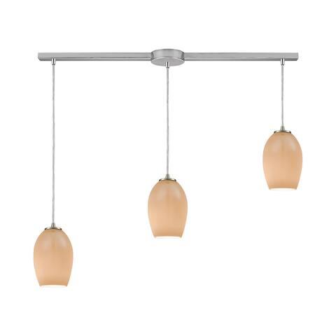 Villiska 3-Light Linear Bar Pendant, Satin Nickel