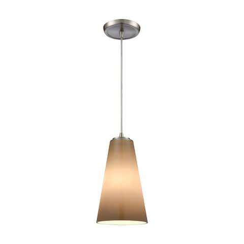 Connor 1-Light Pendant, Satin Nickel