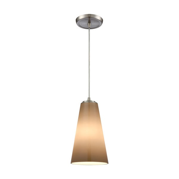 Connor 1-Light Pendant, Satin Nickel