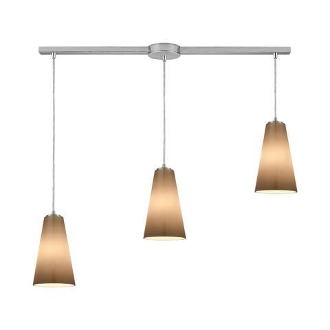 Connor 3-Light Linear Bar Pendant, Satin Nickel