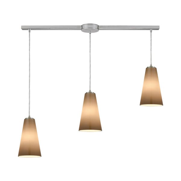 Connor 3-Light Linear Bar Pendant, Satin Nickel
