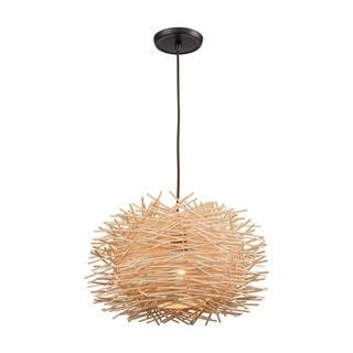 Bamboo 1-Light Nest Pendant, Oil Rubbed Bronze