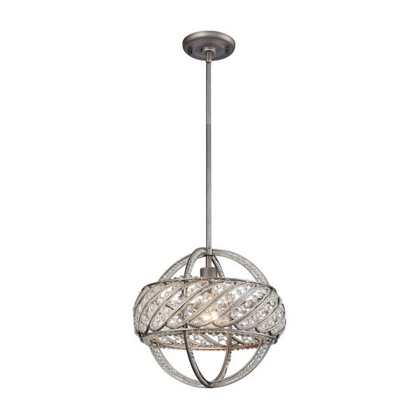 Bradington 1-Light Pendant, Weathered Zinc