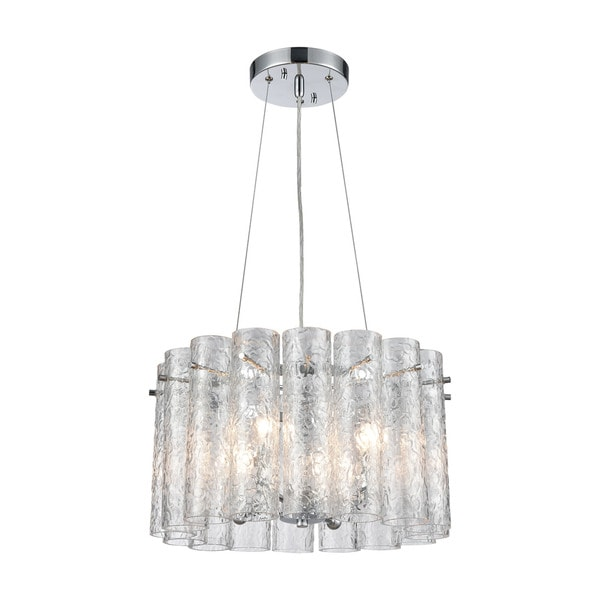 Glass Symphony 4-Light Pendant, Polished Chrome