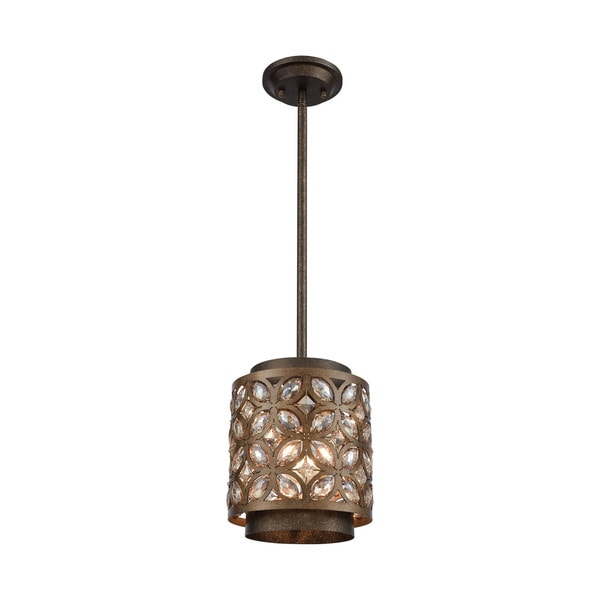 Rosslyn 1-Light Pendant, Mocha/Deep Bronze