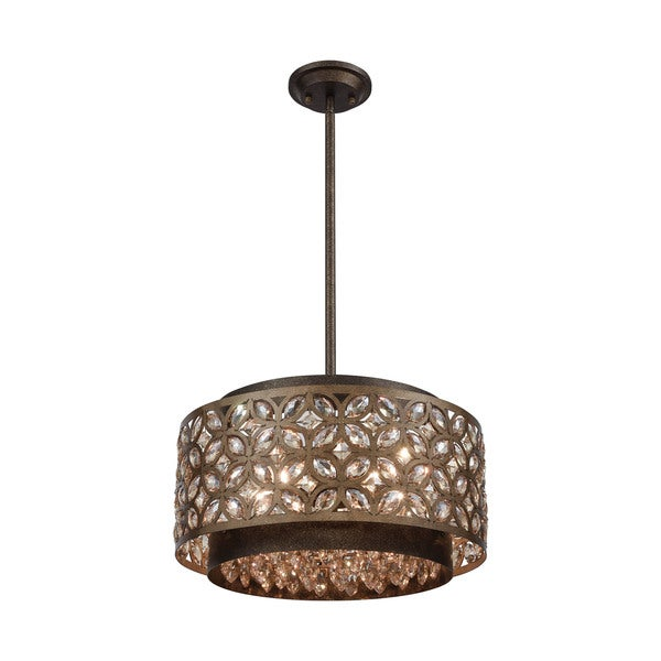 Rosslyn 5-Light Pendant, Mocha/Deep Bronze