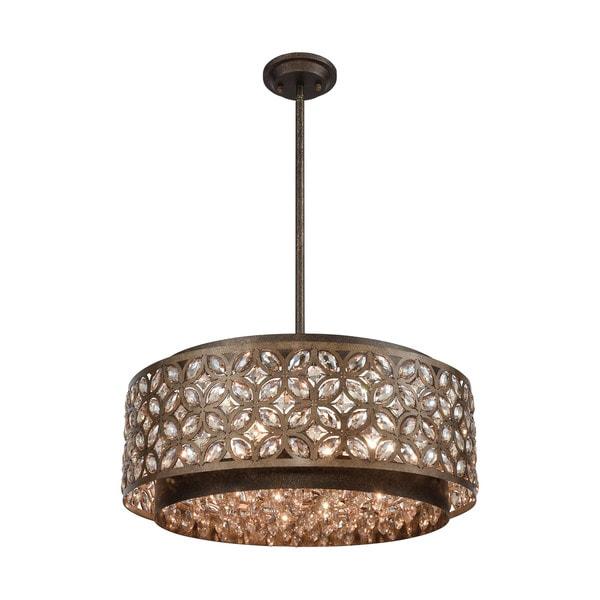 Rosslyn 6-Light Pendant, Mocha/Deep Bronze