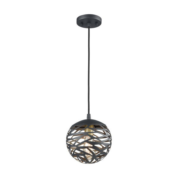 Mystique 1-Light Pendant, Texture Black