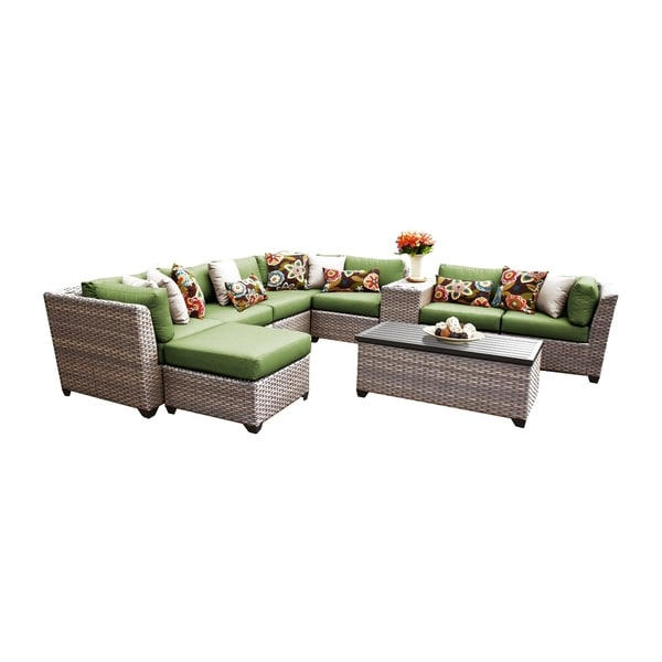 Shop Marina Oh0402 10 Piece Outdoor Patio Wicker Sectional