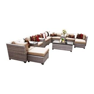 Marina OH0410 14-Piece Outdoor Patio Wicker Lounge Set