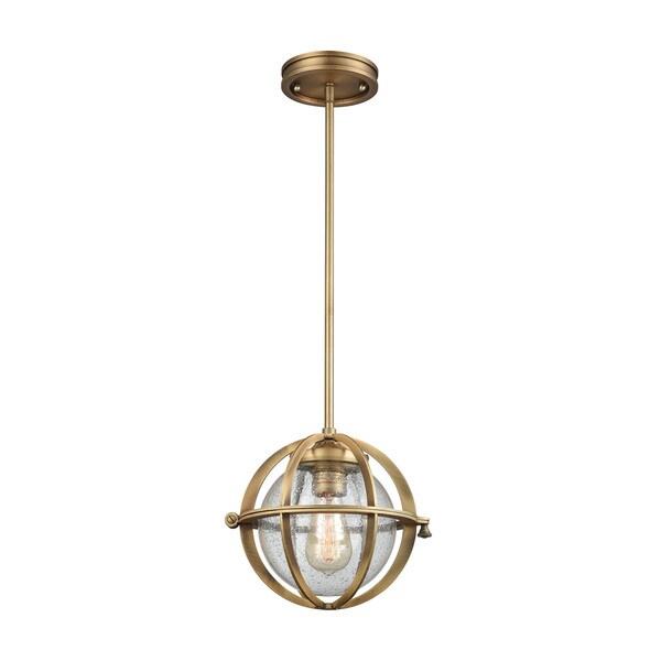 Aubridge 1-Light Pendant, Classic Brass