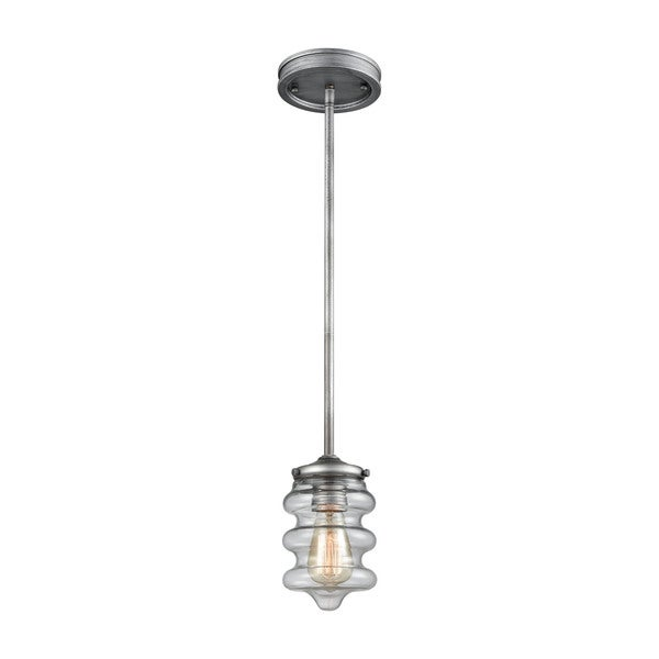 Synchronis 1-Light Pendant, Weathered Zinc