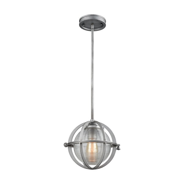 Aubridge 1-Light Pendant, Weathered Zinc