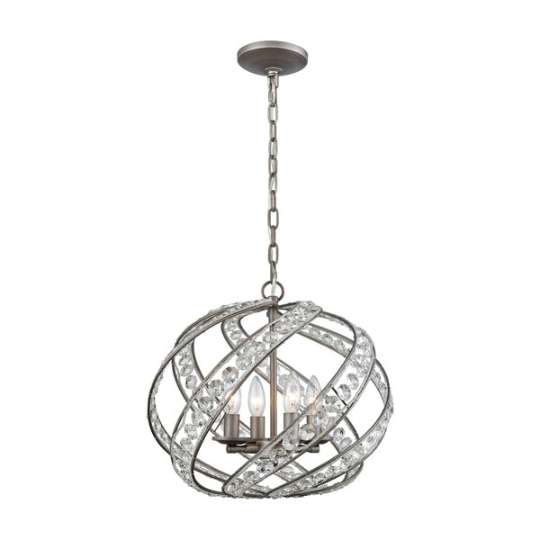 Renaissance 4-Light Pendant, Weathered Zinc